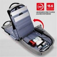Men Backpack 15.6-inch Laptop Backpack Waterproof Fashion 180 Degrees Open Travel School Backpack  Mochila bag school bag men