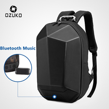 "OZUKO גברים 15.6 ""מחשב נייד תרמיל אופנה ילקוט נער עמיד למים תכליתי זכר נסיעות המוצ ילה תרמילי Bluetooth USB"