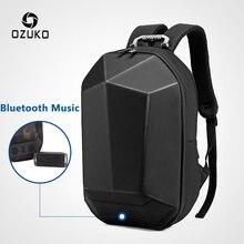 """OZUKO erkekler 15.6 """"dizüstü sırt çantası moda su geçirmez genç Schoolbag çok fonksiyonlu erkek seyahat Mochila USB Bluetooth sırt çantaları"""