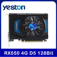 Yeston Rx 550 RX550 4G D5 Grafische Kaart Radeon Chill Pc Computer Video Card 4Gb GDDR5 128Bit 6000mhz DP1.4HDR + HD2.0b + DVI-D + Dp