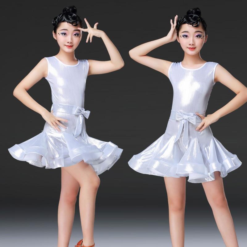 Professional Children Ballroom Latin Dance Dress Sleeveless Competition Dance Costume For Girls Latino Dancing Dresses DL5171