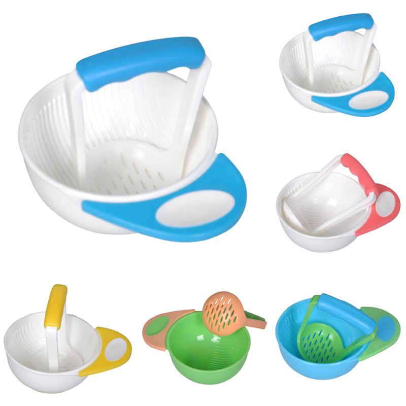 2 Pcs / Set Feeding Bowl Baby Tableware Food Grinding Multifunctional Baby Tableware PP Safety Baby Tableware Feeding Supplies