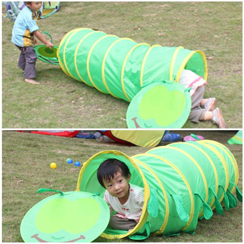 Kids Tunnel Indoor Outdoor Kids Play Tent Children's Tent Animal Crawling Game Baby Tunnel Toys Outdoor Fun Tunnel Random Color
