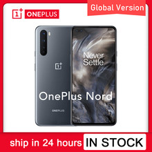 Versão global original oneplus nord 5g smartphone 6.44 polegada 90hz amoled snapdragon 765g octa núcleo android 10 30w