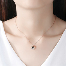 Hot Sale 100 languages I Love You Memory Projection Six-pointed Star Pendant Necklace Female Clavicle Chain Jewelry six star pro nutrition 100