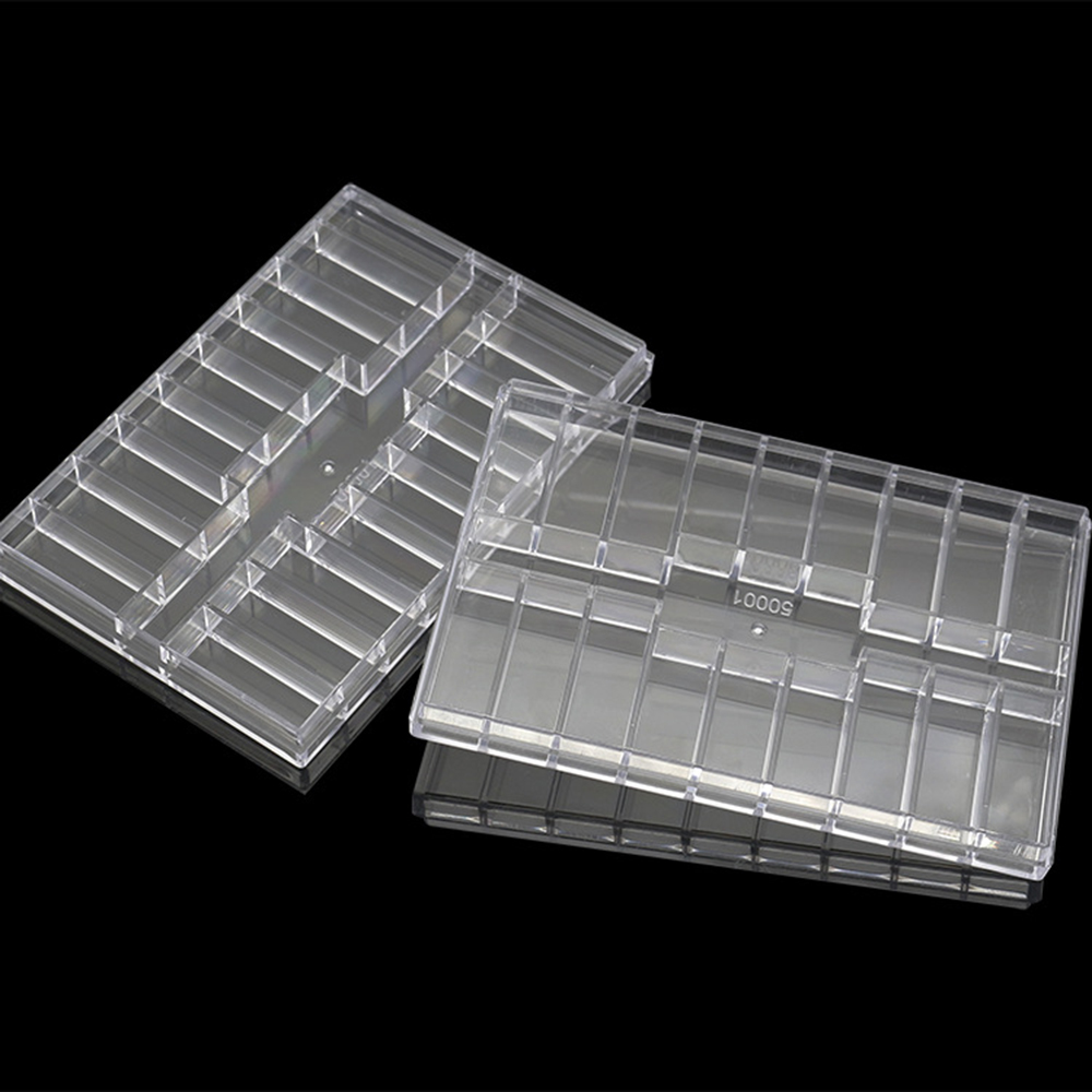 19 Grid Transparent Boxes Compartment Plastic Storage Box Jewelry Earring Bead Screw Holder Case Display Organizer Container
