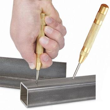 5 Cal automatyczne wykrawanie narzędzia do obróbki drewna wiertła elektronarzędzia metalowe wiertła centrum Pin Punch sprężynowy Dent Marker tanie i dobre opinie Kitbakechen ELECTRICAL Centrum wiertło CN (pochodzenie) 130mm Wiercenia drewna Drill Bit GJ0107 High speed steel 5 Automatic Punching
