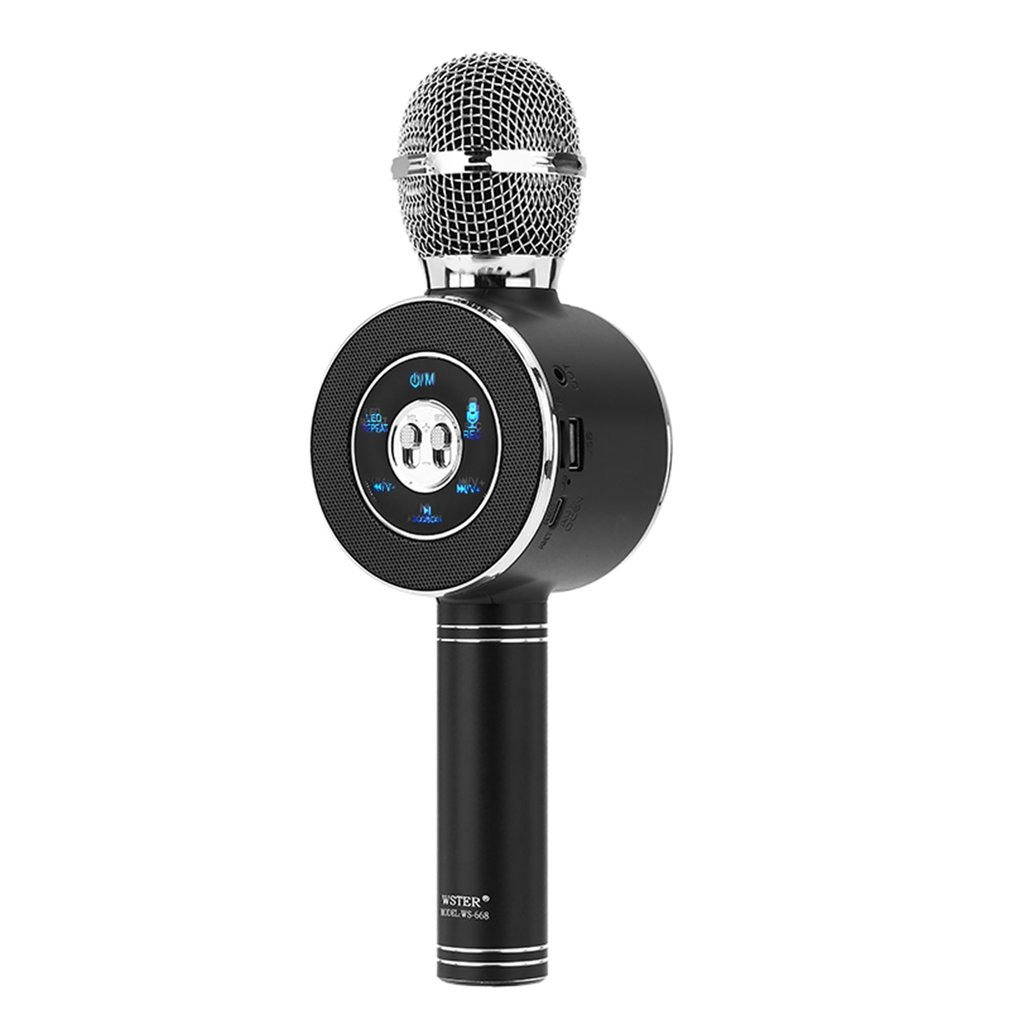 WS-668 K Song USB Speaker Player KTV Singing Microphone Wireless Microphone Stereo Mic Live Equipment