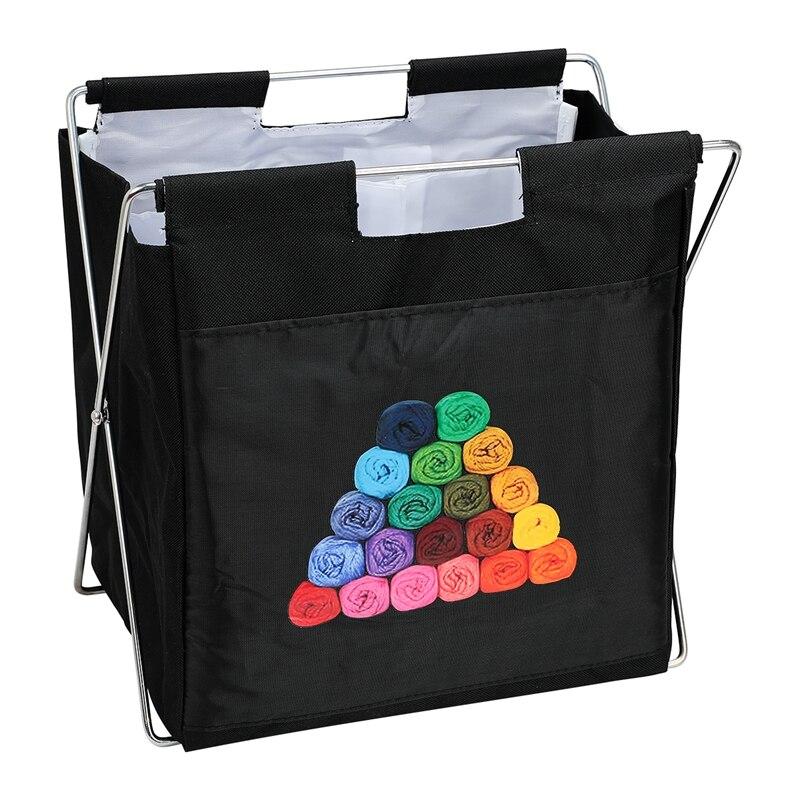 Folding Knitting Bag Organizer Yarn Storage Case For Crocheting Hook Knitting Needles Wool Storage Tote Bag For Travel