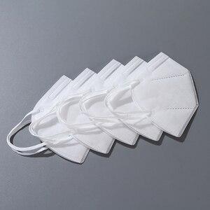 Image 4 - Dorpshipping 50 шт. белые маски, пыленепроницаемые противотуманные и дышащие маски для лица, 4 слойные защитные одноразовые маски для рта
