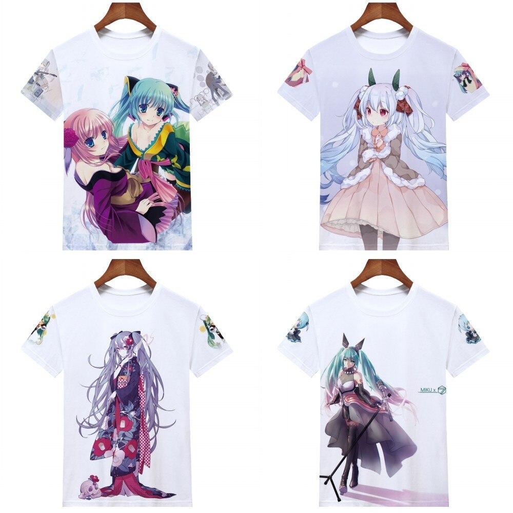 Boys Shirts Hatsune Anime Miku Girls Tee Shirt Youth Short Sleeve Teenager Youth T-Shirts Top