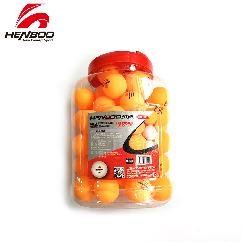HENBOO 3-Star 60 Pcs/lot Table Tennis Balls Ping Pong Balls  New Material 3-Star Seamed ABS Balls Plastic Poly Ping Pong Balls
