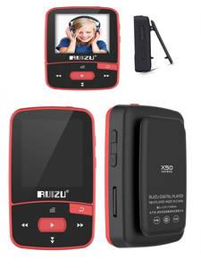 RUIZU Mp3-Player Pedometer Clock Recording E-Book 8GB-CLIP Bluetooth X50 Sport Mini Original