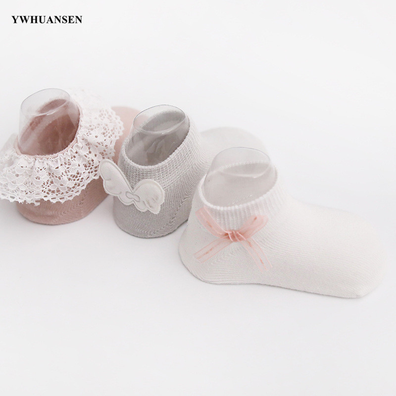 3 Pairs/lot 0 to 24M Spring Summer Baby Socks Solid Color Infant Baby Floor Socks Soft Cotton Anti-slip Boat Socks For Girls 2