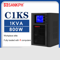 Uninterruptible Power Supply 1KVA / 800W Home with 220V Spare need External Battery Pc Surveillance Cameras C1KS