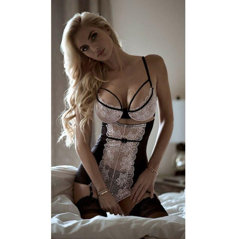 Feminino sexy rendas sem mangas estilingue sólida lingerie profundo decote em v quente erótico bebê bonecas xxxl biquini tamanhos grandes