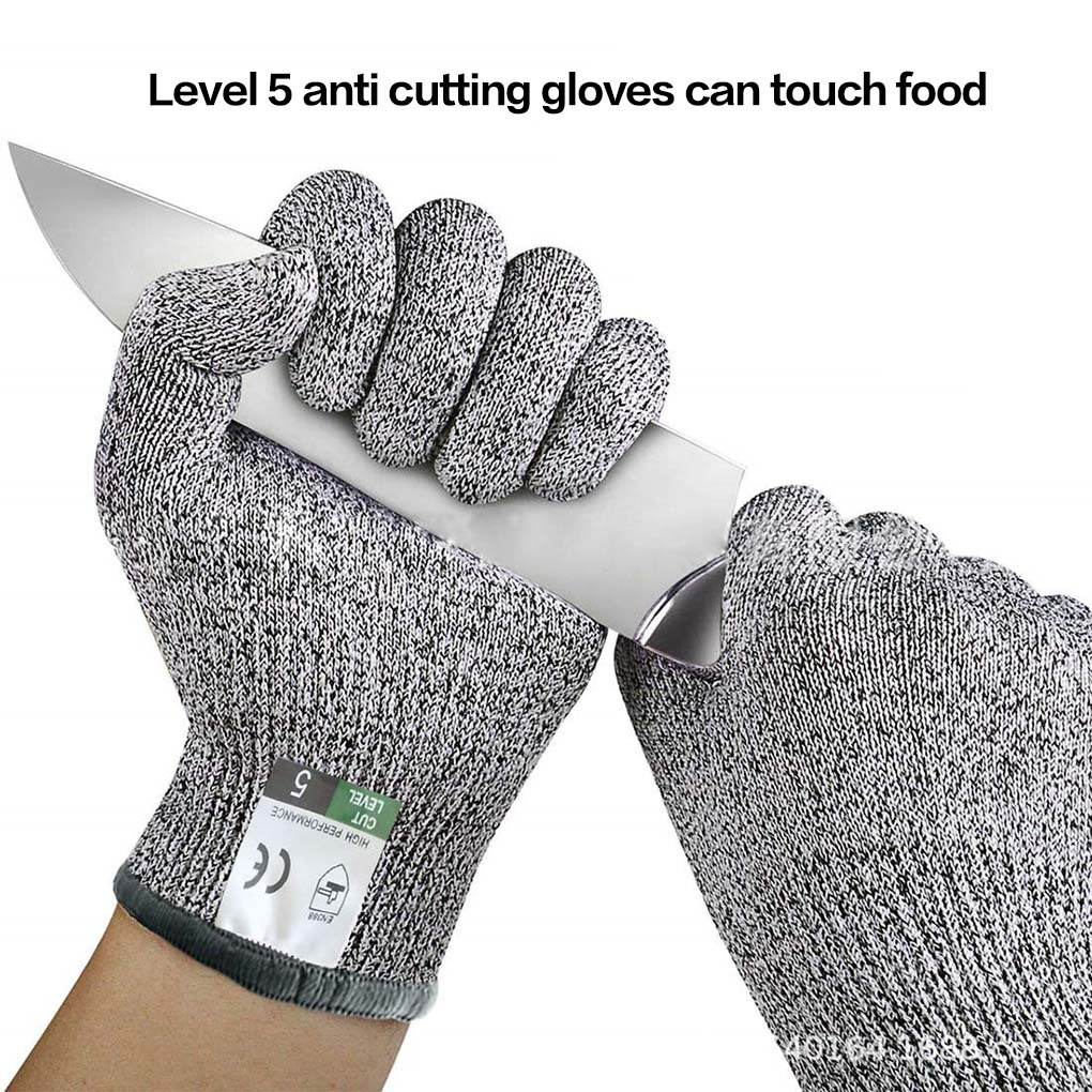 1 Pair HPPE Kitchen Gardening Hand Protective Gloves Butcher Meat Chopping Working Gloves Anti-cut Gloves