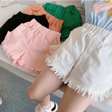 Jeans Denim Shorts Baby-Girls Kids Fashion Children Solid with Tassel High-Quality Outfits