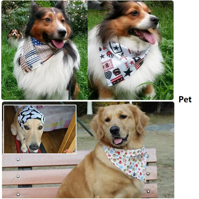 Dog Collar Bandana Dot Style Pet Bandanas Cotton Washable Dog Bandanas Scarf Bowties Collar Pet Square Bib 5
