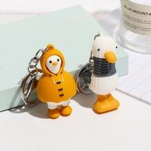 Duck Keychain Japan Fashion Kawaii Cartoon Cute for Children Pendant Bag Gifts Animals