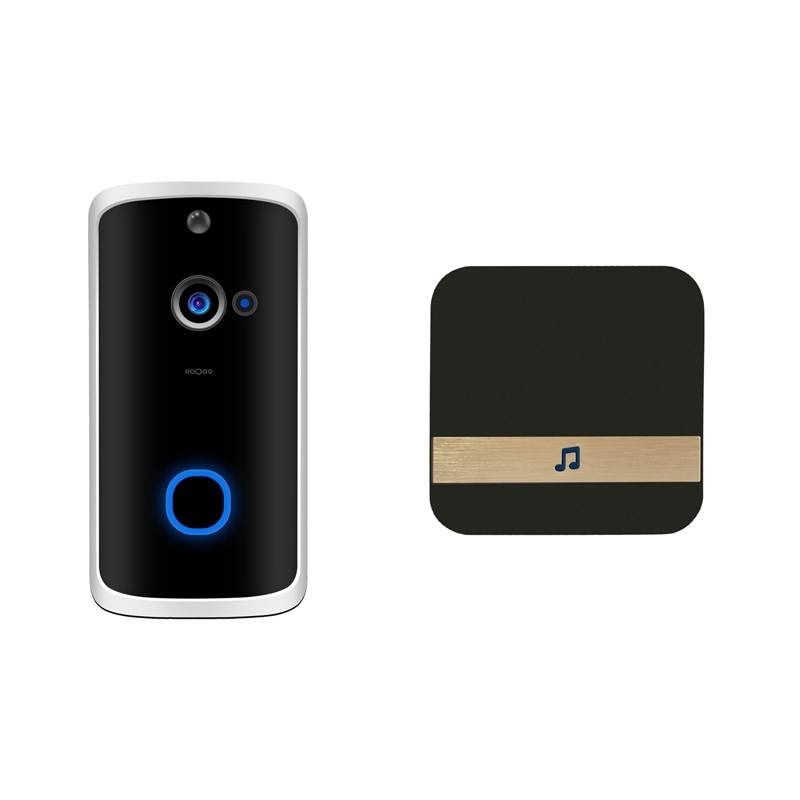 ABKT-Wifi Security Doorbell Smart Hd 720P Visual Intercom Recording Video Door Phone Remote Home Monitoring Night-Vision With Re