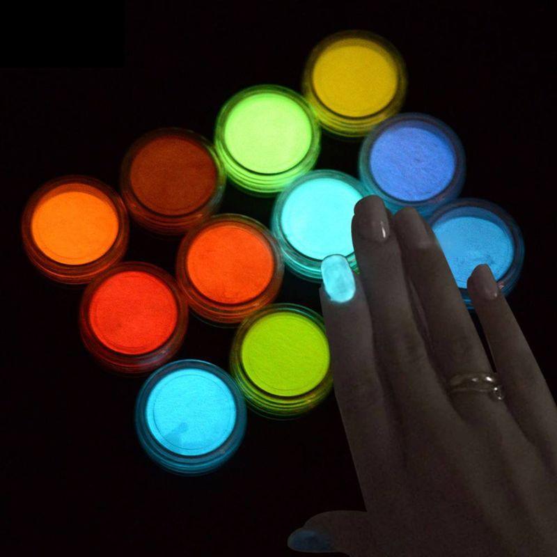 Non-toxic And Non-radioactive 2 Gram/ Box 10 Colors Luminous Powder Resin Pigment Dye UV Resin Epoxy DIY Making Jewelry