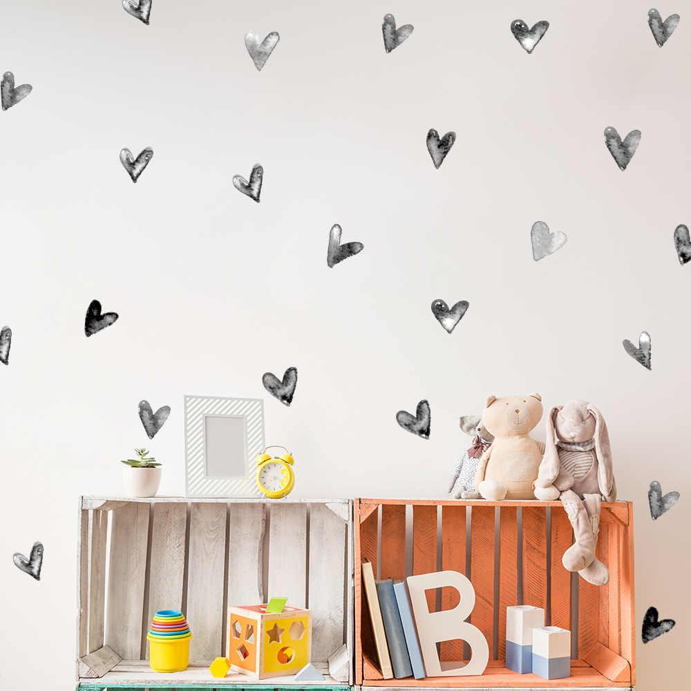 طفلة القلب الجدار ملصق للأطفال غرفة طفلة غرفة ملصقات الزخرفية الحضانة غرفة نوم الاطفال ملصقات جدار ديكور المنزل