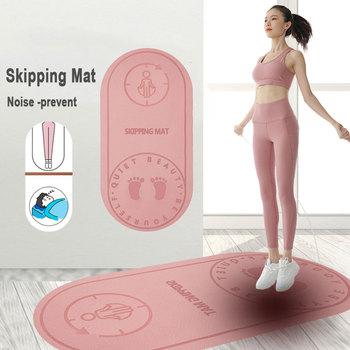 Skakanka mata do ćwiczeń amortyzacja wyciszona mata do jogi izolacja akustyczna i amortyzacja płyta o wysokiej gęstości mata antyhałasowa X241A tanie i dobre opinie HAIMAITONG CN (pochodzenie) 8 mm (dla początkujących) Jump Rope Yoga TPE Mat 127*62cm 6mm 8mm 40*60cm 8mm