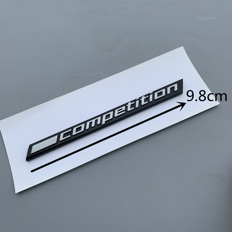 Glossy Black COMPETITION Bar Underlined Emblem for BMW Thunder Edition M1 M2 M3 M4 M5 M6 M7 M8 X3M X4M X5M X6M Car Trunk Sticker