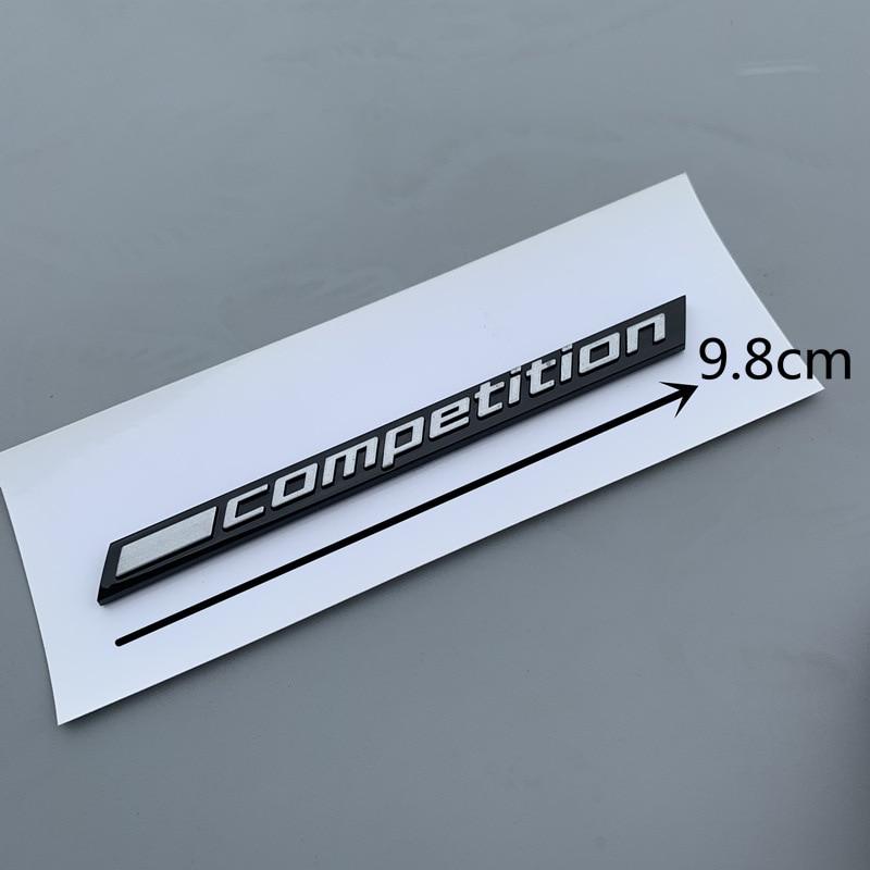 barra preta brilhante da competicao sublinhado emblema para bmw thunder edition m1 m2 m3 m4 m5