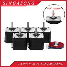 Nema17 Stepper Motor 0.9 degree motor 42 Motor Nema 42BYGH 1.3A 38mm 17HS4401 17HS4401S Pulse value 4-lead for 3D printer CNC