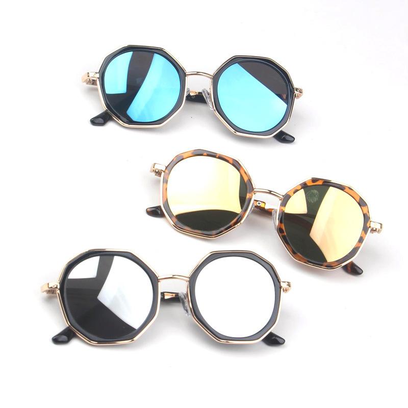 Большие Детские многоугольные солнцезащитные очки для малышей