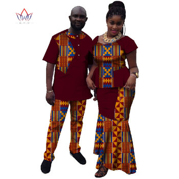 2020 Summer New Hot Sale Matching Couple Clothes Casual Contrast Colors Couple Outfits African Couple Clothes  For Lovers WYQ10