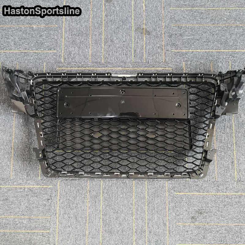 ハニカムメッシュフロントグリルグリルアウディ A4 B8 S4 RS4 S ライン 2009-2012 RS4 スタイル