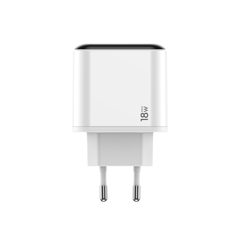 TOTU QC3.0 LED Display EU Plug Dual <font><b>USB</b></font> Fast Travel Charger for iPhone Charger for <font><b>Samsung</b></font> Xiaomi Phone Wall Charger Adapter image