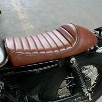 53x25cm Motorcycle Seat Saddle Brown Hump Universal Seat Cafe Racer Vintage Saddle Universal For Harley Honda Kawasaki