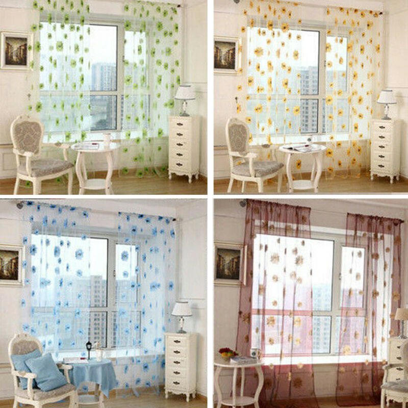 New Tassels Butterfly Window Curtains Black Bay Window Drape