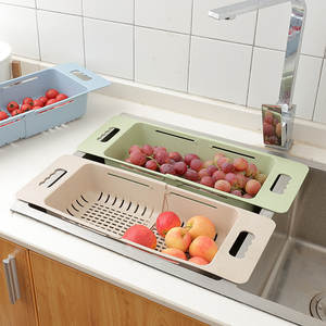 Vegetable-Basket Retractable Kitchen Regulation Sink-Washing Fruit Whol