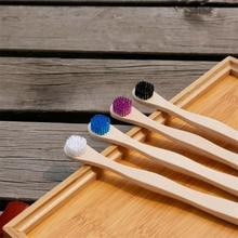 Натуральная бамбуковая щетка для ухода за зубами, Экологичная зубная щётка, скребок, инструмент для чистки языка для взрослых