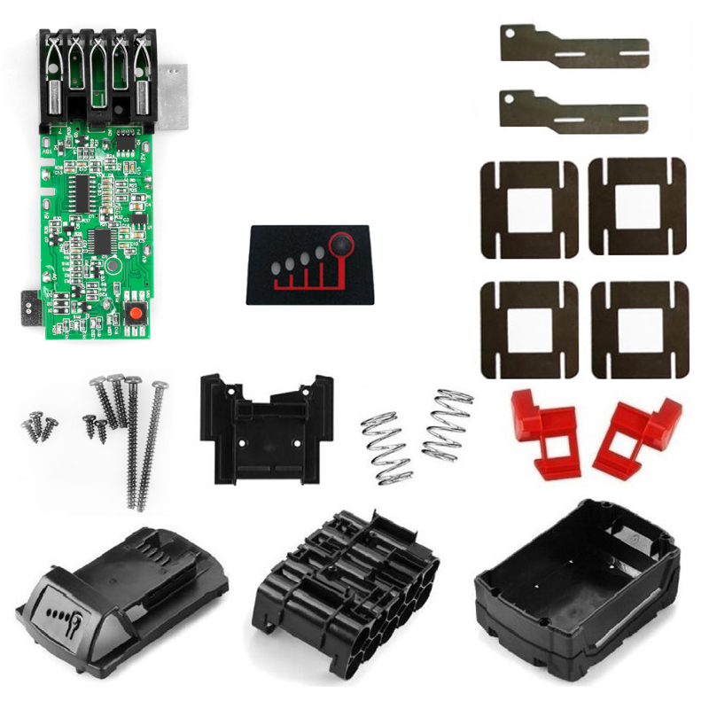 M18-10 Battery Plastic Case PCB Board Circuit Board Box For Mil Waukee 48-11-1840 18V 3.0Ah 6.0Ah Battery Pack Electric Drill
