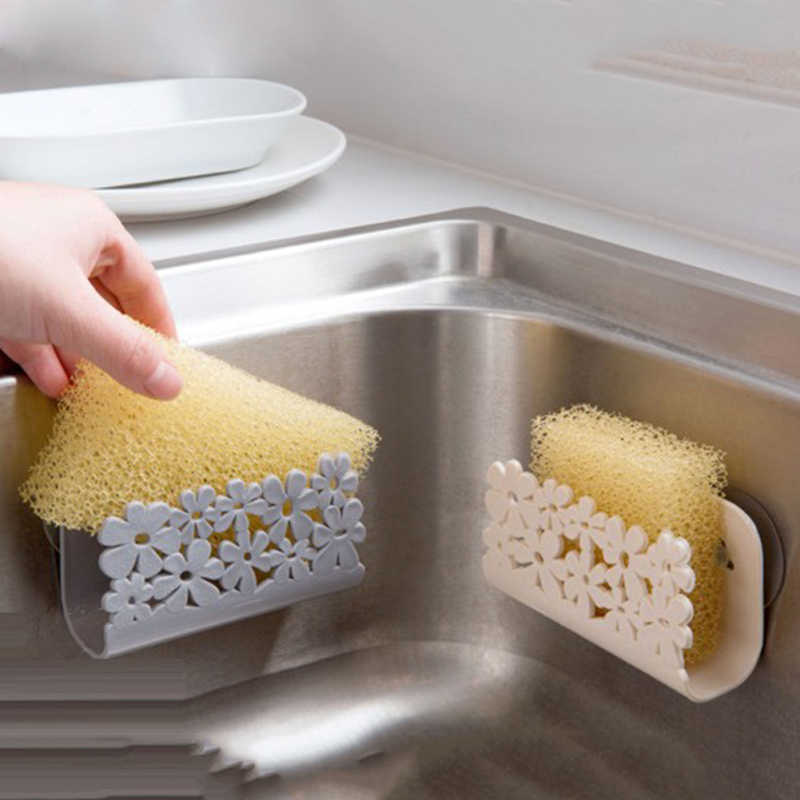 1 Pcs Dapur Wastafel Sisi Rak Spons Rak Penyimpanan Sabun Rak Dapur Spons Piala Kamar Mandi Shower Penyimpanan Sabun Dish Pemegang tahan Lama