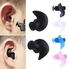 1 par macio tampões de ouvido de silicone ambiental à prova de poeira impermeável tampões de ouvido mergulho esportes aquáticos acessórios de natação