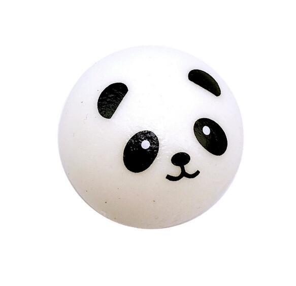 7CM Squishy Panda Bun Stress Reliever Ball Slow Rising Decompression Toys PU Key chains Keychain Kids Toys 1