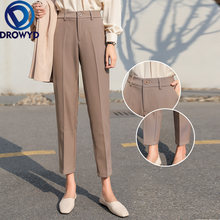 Брюки карандаш хаки для женщин модные элегантные офисные штаны