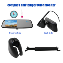 Rear-View-Mirror-Monitor TFT Temperature-Display Car-Video LCD with Compass Anti-Glare
