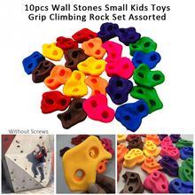 10個屋内屋外子供ロッククライミングセット壁石遊び場なしネジ小裏庭ロッククライミングセット