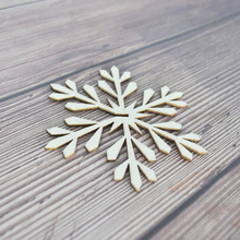 Happymems Wood Shapes Splice 24or120pcs Wooden Christmas Snowflake DIY For Scrapbooking Home Decorations Embellishments Crafts