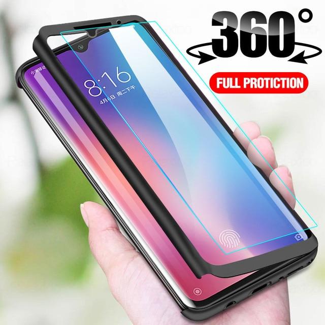 360 Full Body Front กระจกนิรภัย + เคสโทรศัพท์สำหรับ Samsung A42 5G ฝาครอบสำหรับ Samsung Galaxy A42 5G A41 A4 4 1 2 41 42 Funda