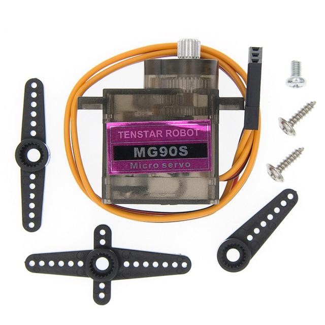 MG90S Metal gear cyfrowy 9g serwo dla helikopter Rc samolot łodzi MG90