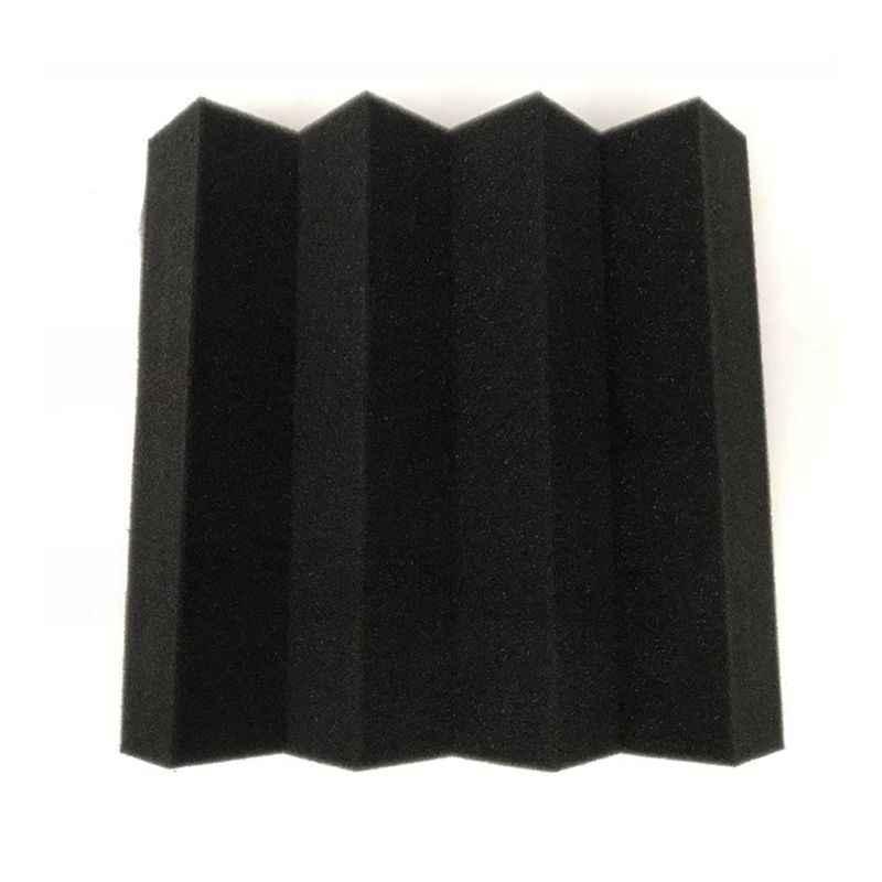 25x25 ซม.x 5cm อะคูสติก Soundproof Sound หยุดดูดซับสตูดิโอกระเบื้องโฟมฟองน้ำ